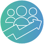 Increases capacity and productivity icon