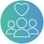 Delivers social value icon