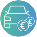 Travel expenses covered icon