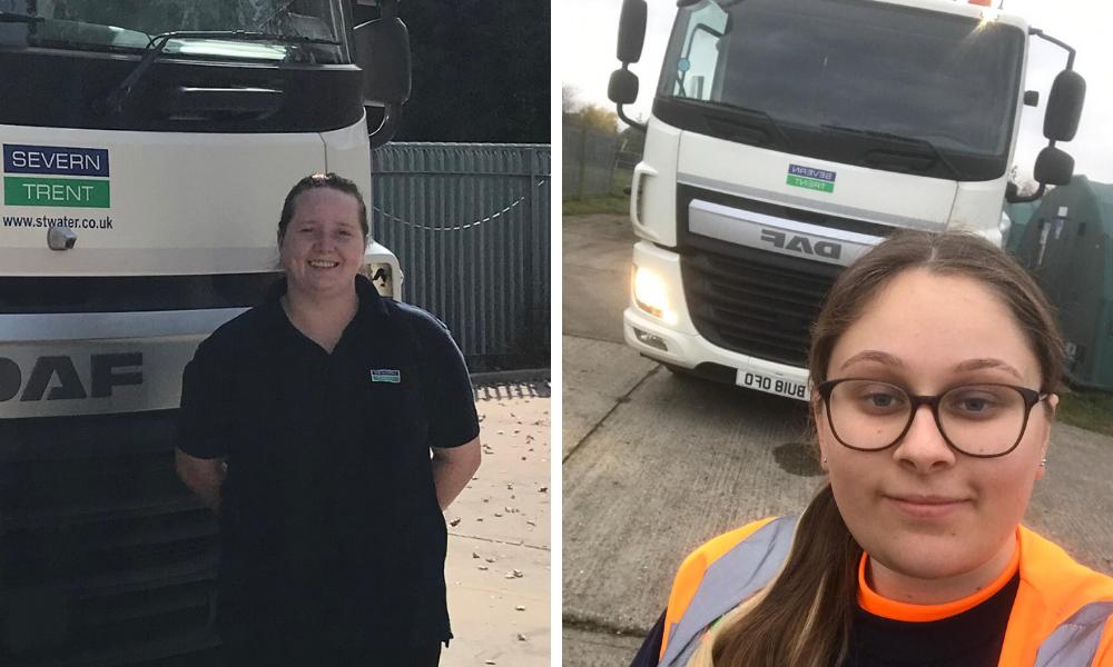 Female HGV driver apprentices